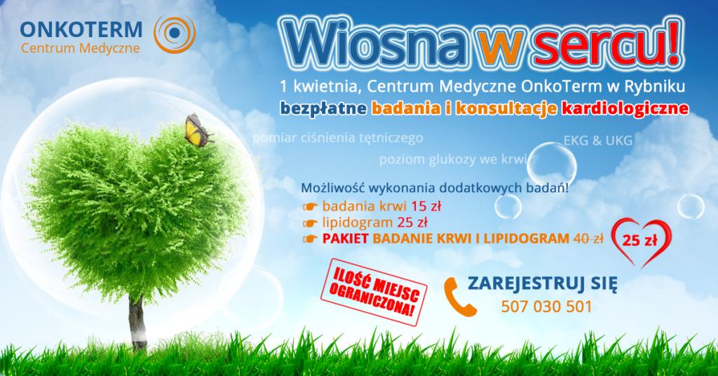 Wiosna wsercu - bezpłatne badania ikonsultacje kardiologiczne